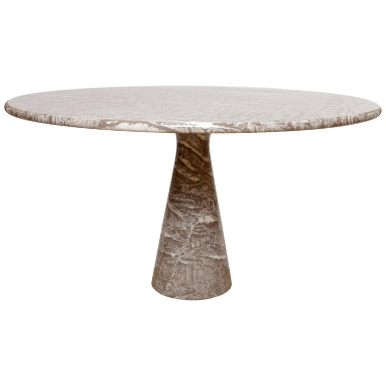 Angelo Mangiarotti marble table by Skipper For Sale