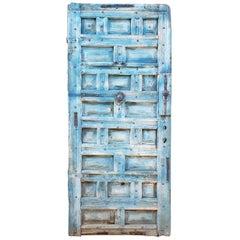 Funky Blue Moroccan Wooden Door, 23MD59