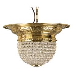 Jugendstil Ceiling Lamp with Original Glass Balls, circa 1905