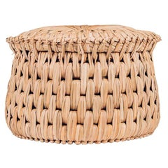 Handwoven Palm 'Icpalli' Large Stool, made in Mexico from LUTECA