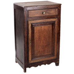 19th Century One Drawer and One Door French Cabinet