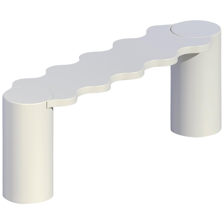 Chapel Petrassi Contemporary Bench White Hella Aluminium For Sale