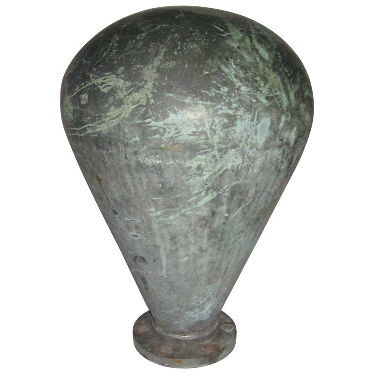 1930s Copper Antique Ship Mooring Bollard Early Hudson River Lower NYC For Sale