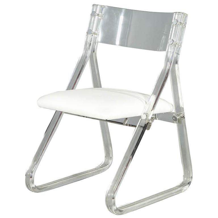 Mid-Century Modern Lucite Accent Desk Chair