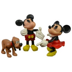 Mickey, Minnie and Pluto Figurines, Walt Disney Productions, 1994, France