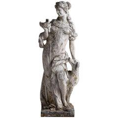 Cast Stone Garden Statue of Artemis, England, circa 1950
