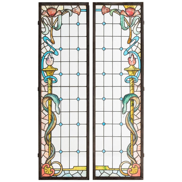Pair of Chemist Shop Shutters, England, circa 1910 For Sale