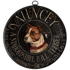 Portrait Painting of a Staffordshire Terrier, England, circa 1890