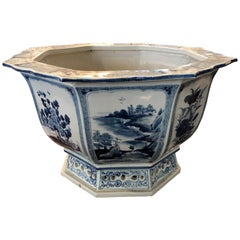 Octagon Blue and White Chinese Bowl