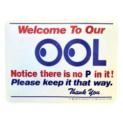 No P in Our Pool Vintage Sign