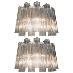 Pair of Venini Tronchi Sconces or Wall Lights by Toni Zuccheri, 1970s