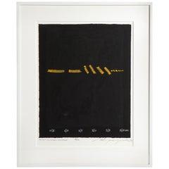 "Adja Yunkers Lithograph ""Shant D'un Oiseau Solitaire"" 50/50, USA, 1974"