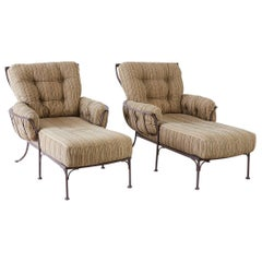 Set of Four O.W. Lee Monterra Chaise Lounges