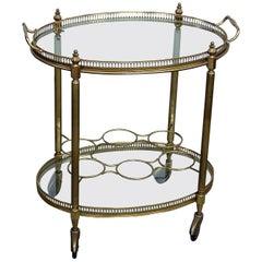 Italian Regency Style 2-Tier Bar Cart