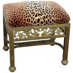 Hollywood Regency Style Footstool