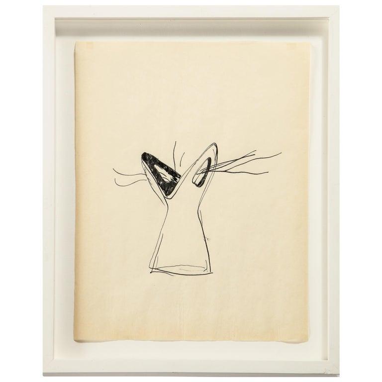 "Gio Ponti Sketch ""Disegni per Vasi Incrociatifor"", Italy 1950 For Sale"