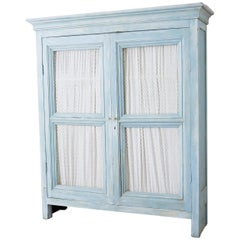 Country French Provincial Painted Armoire Cabinet