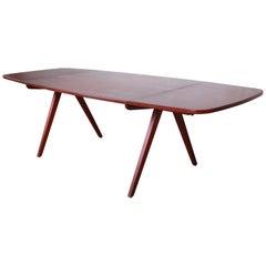 Poul Volther Danish Modern Teak Scissor Leg Dining Table, circa 1950