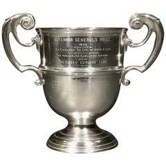 Canadian Governor Generals Prize, Sterling Silver Curling Trophy, London UK 1900