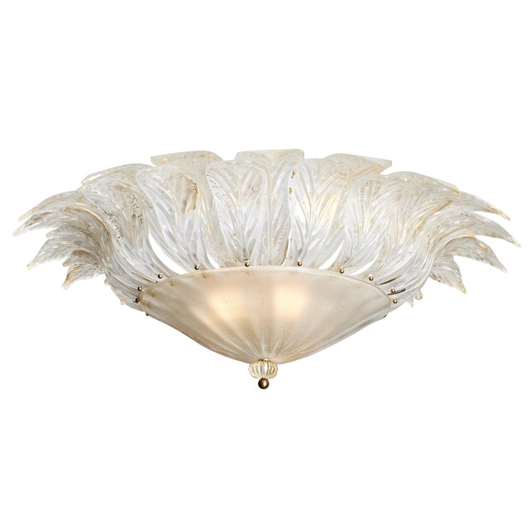 Murano Glass Italian Vintage Chandelier For Sale
