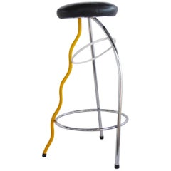 Late 1970s Memphis Duplex Bar Stool by Javier Mariscal