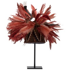 Inca Woven Hat with Feather Plume