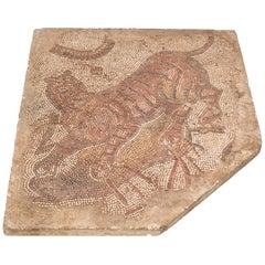 Late Roman Tiger Mosaic Table