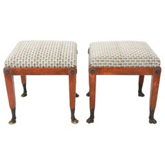 Pair of Lion's Paw Feet Benches
