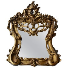Late 18th Century Hand Carved Wood Mirror