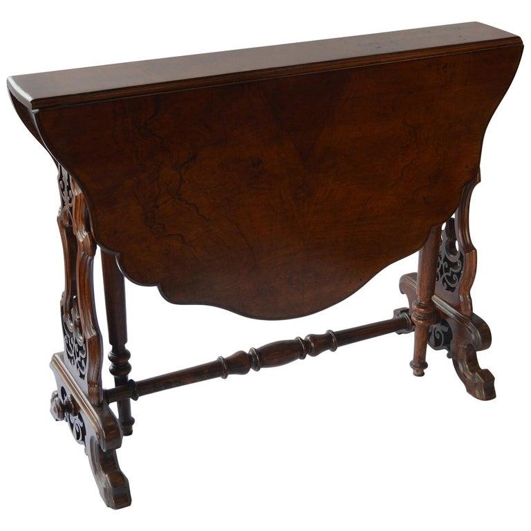 Victorian Figured Walnut Sutherland Table For Sale