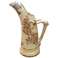 Hand Painted Royal Worcester Pitcher Year Mark, 1888