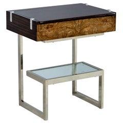 Vintage Walnut Vanity End Table