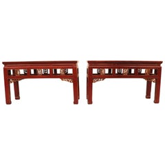 Red Lacquer Benches