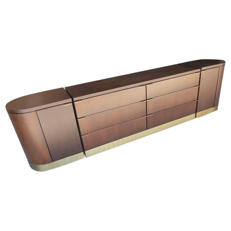 1960s Three-Part Credenza by Milo Baughman for Glenn of California For Sale