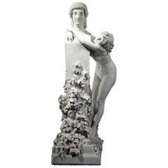 Rare Italian Marble of a Nude Goddess Adelaide Pandiani Maraini
