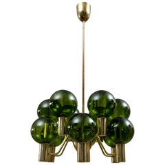 Rare Pair of Hans-Agne Jakobsson Chandeliers T372/12 Patricia, 1960s