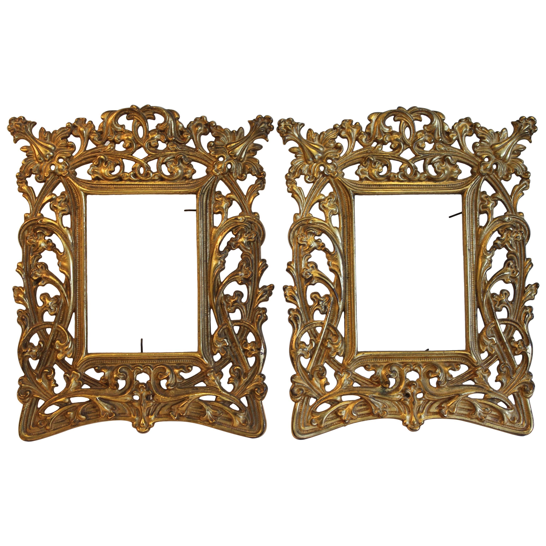 Pair of Art Nouveau Picture Frames