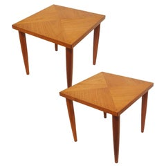 1950-1960s Teak Occasional Side Tables, Pair