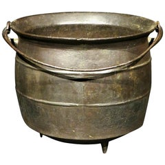 Early 19th Century Cast Iron Cauldron or Kettle, Continental Circa 1800