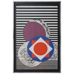Acrylic Painting Signed and Dated, 1969