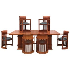 Frank Lloyd Wright Designed Cherry Table and Chairs
