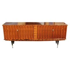 French Exotic Macassar Ebony Sideboard or Buffet, 20th Century