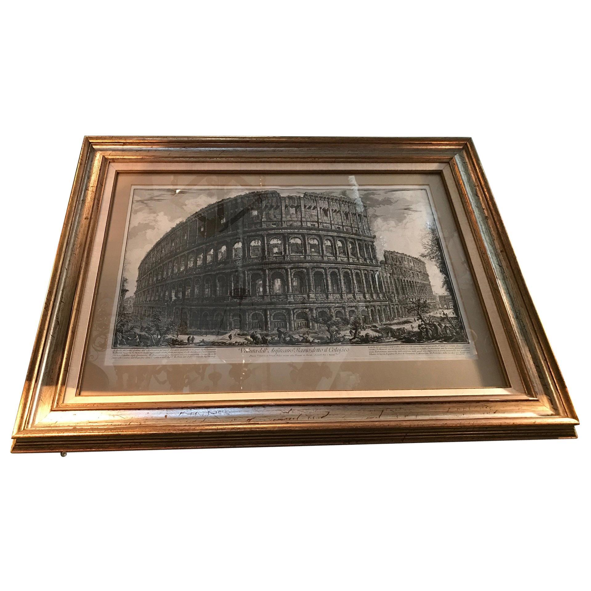 Early Giovanni Battista Piranesi the Colosseum Veduti Di Roma Wall Decor Antique