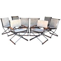 Rare Set of 8 Cleo Baldon Terra Oak Dining Chairs