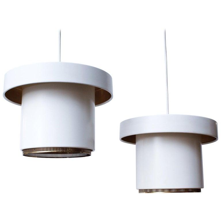 Original Production Alvar Aalto A201 Pendant Lights for Valaistustyö For Sale