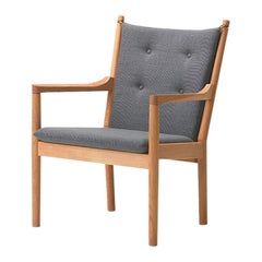 Hans Wegner 1788 Easy Chair, Oiled Oak and Fabric