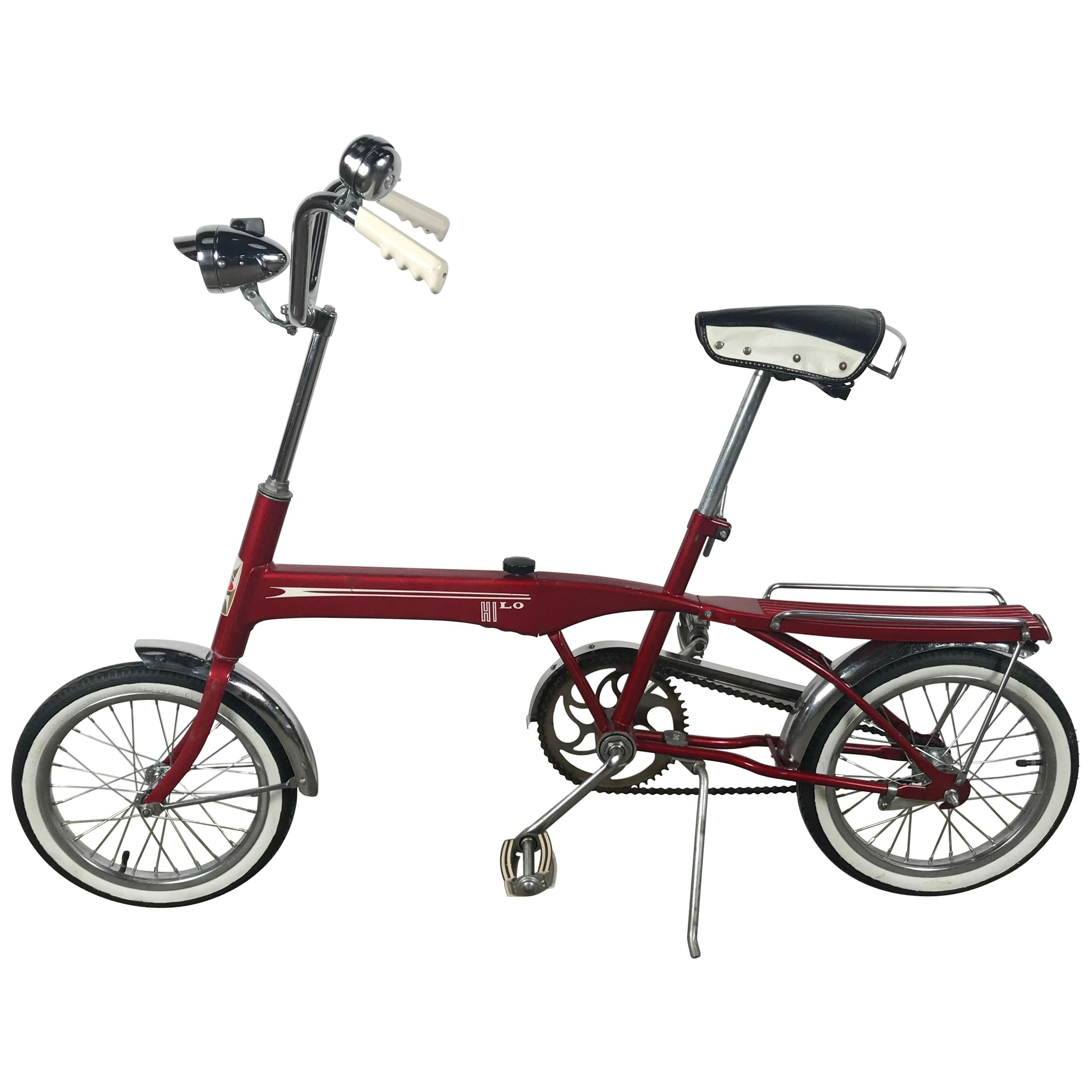 Rare Hi-Lo Collapsible Modernist Bicycle by Cleveland Company MDT