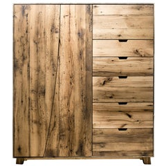 SEBA Wardrobe in Reclaimed White Oak by Hopes Woodshop