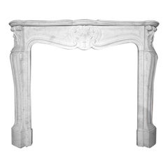 Antique Marble Fireplace Mantel Louis XV Model, 19th Century