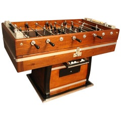 Wood and Aluminum Foosball Table , Football Game Table